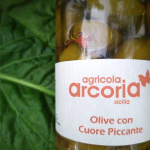 olive con cuore piccante