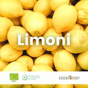 Limoni biologici siciliani