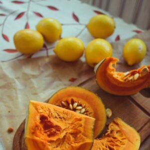 cesta zucca e limoni