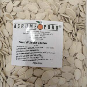 Semi di zucca tostati confezione